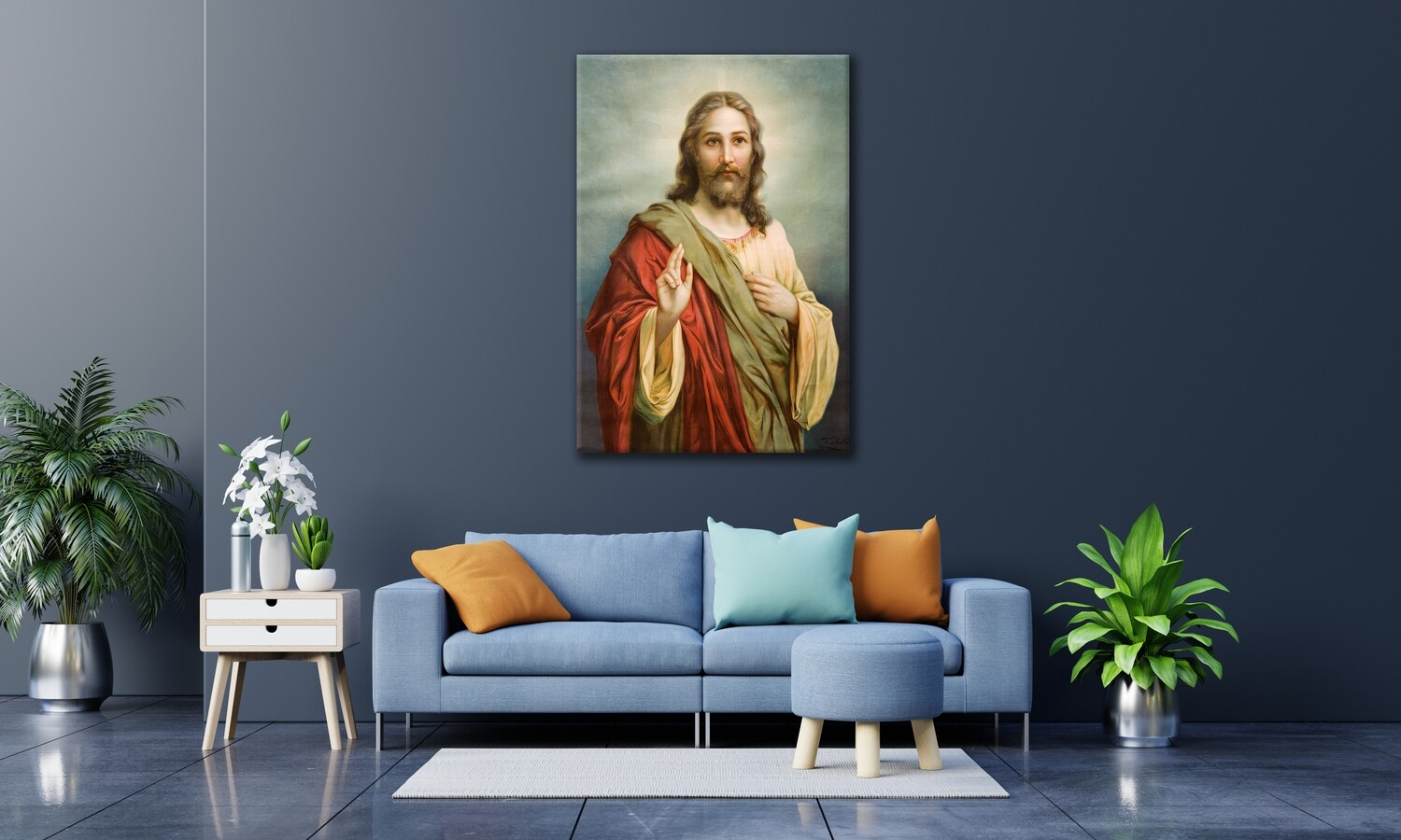 Jesus Christ Frameless Acrylic Wall Art -Jesus Painting Printed On Acrylic Glass- Christian Wall Art