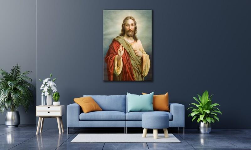 Jesus Christ Frameless Acrylic Wall Art -Jesus Painting Printed On Acrylic Glass- Christian Wall Art
