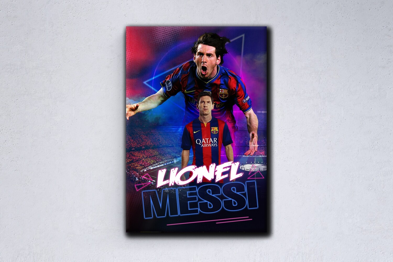 Lionel Messi Painting -Sports Wallart - FC Barcelona Lionel Messi - Picture Printed on Frameless Acrylic Glass- Ready To Hang