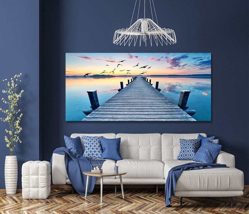 Long Pier   - Modern Luxury Wall art Printed on Acrylic Glass - Frameless and Ready to Hang