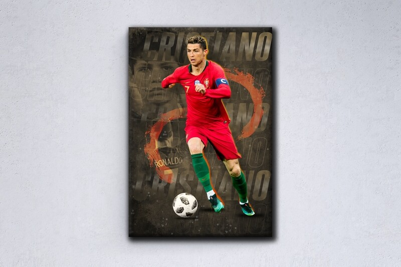 Cristiano Ronaldo Painting -Sports Wallart - CR7  - Picture Printed on Frameless Acrylic Glass- Ready To Hang