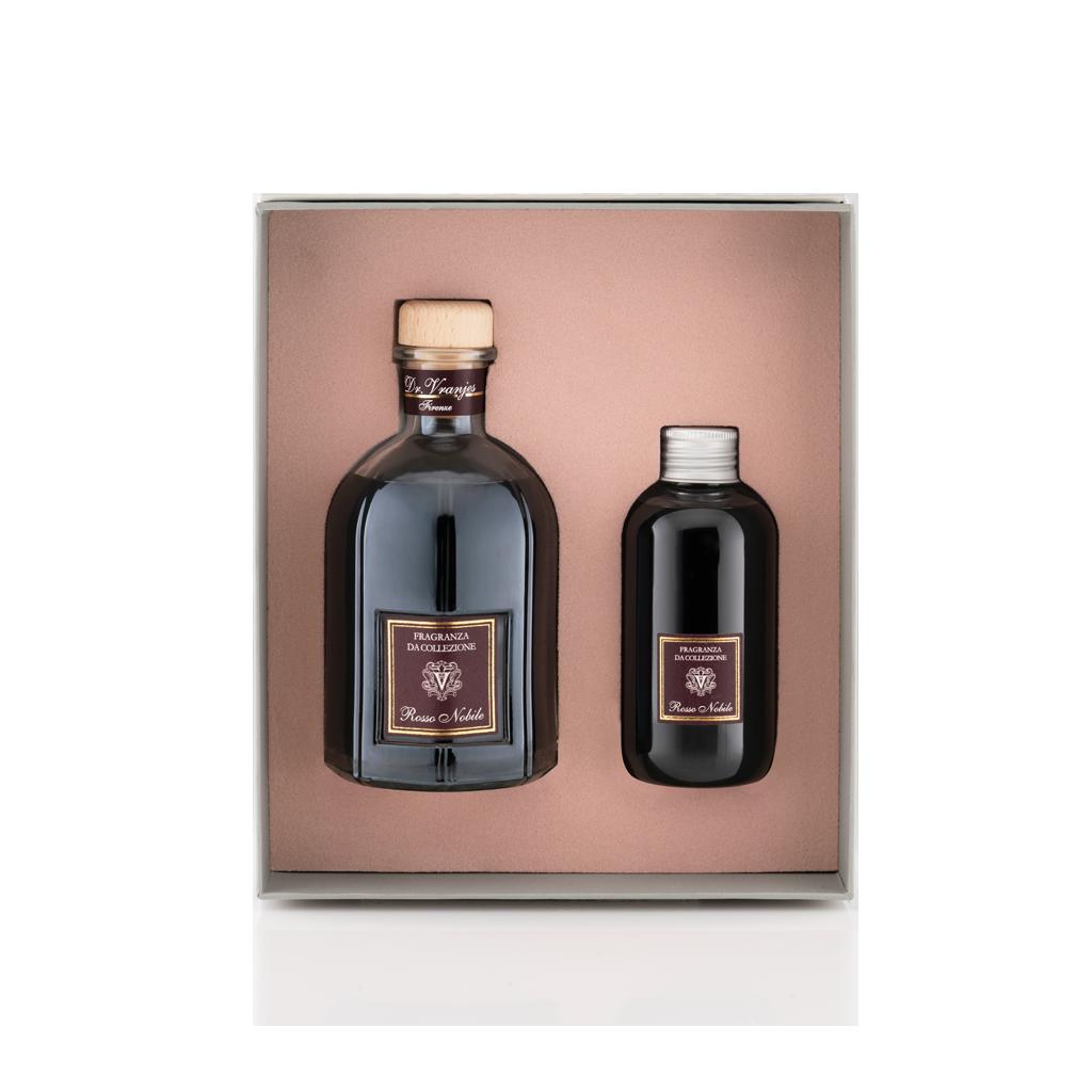 Подарочный набор: диффузор Dr.Vranjes Rosso Nobile Благородное красное вино 250 мл с наполнителем 150мл