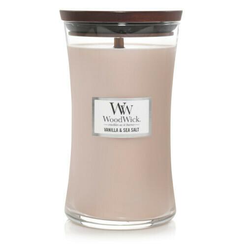 Аромасвеча WoodWick Ваниль и морская соль, большая