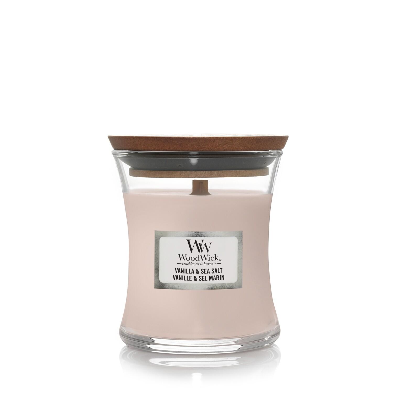 Аромасвеча WoodWick Ваниль и морская соль, малая