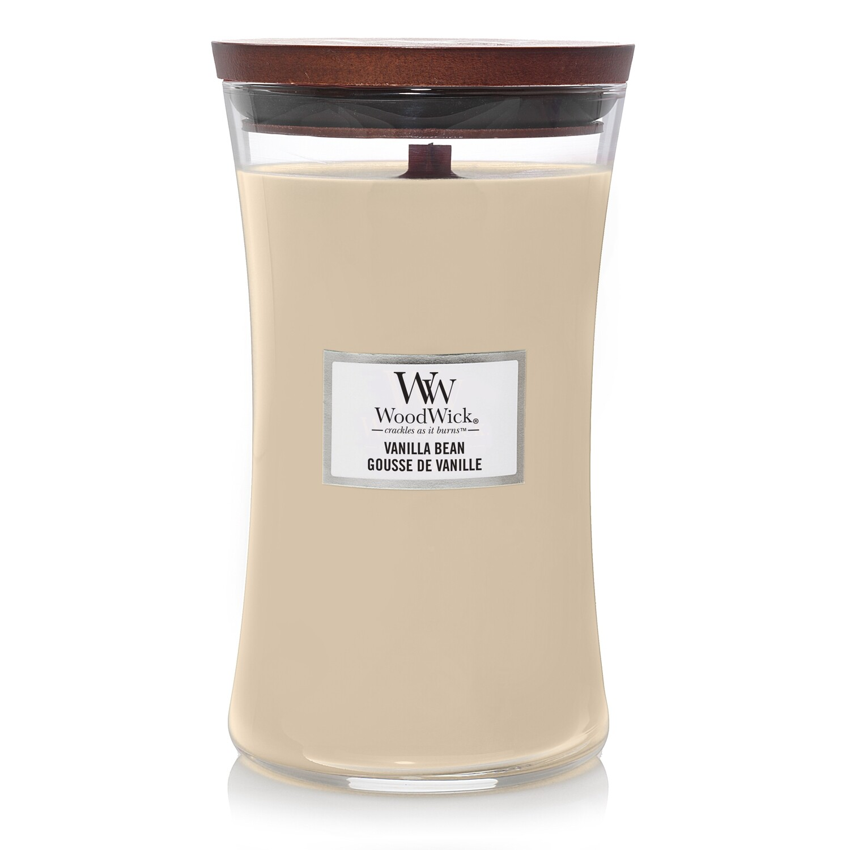 Аромасвеча WoodWick Ванильный боб, большая