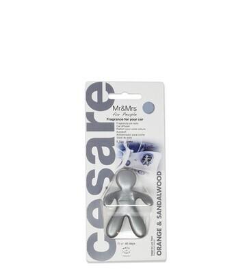 Ароматизатор для автомобиля CESARE ORANGE FLOWERS& SANDALWOOD/ Сандал (стальной  металлик)