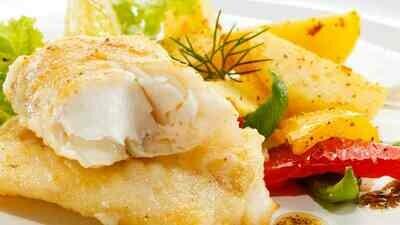 Baccalà Fritto con patate alla contadina