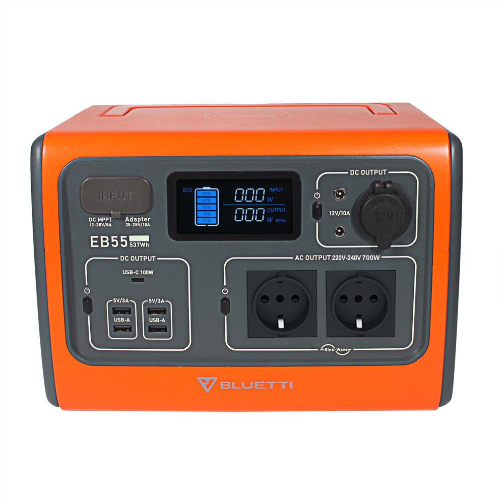 Bluetti EB55 537Wh Premium LiFePo4 Solar Powerstation