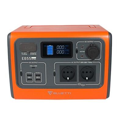 Bluetti EB55 537Wh Premium LiFePo4 Powerstation - Jetzt vorbestellen mit Gutscheincode WELCOME55