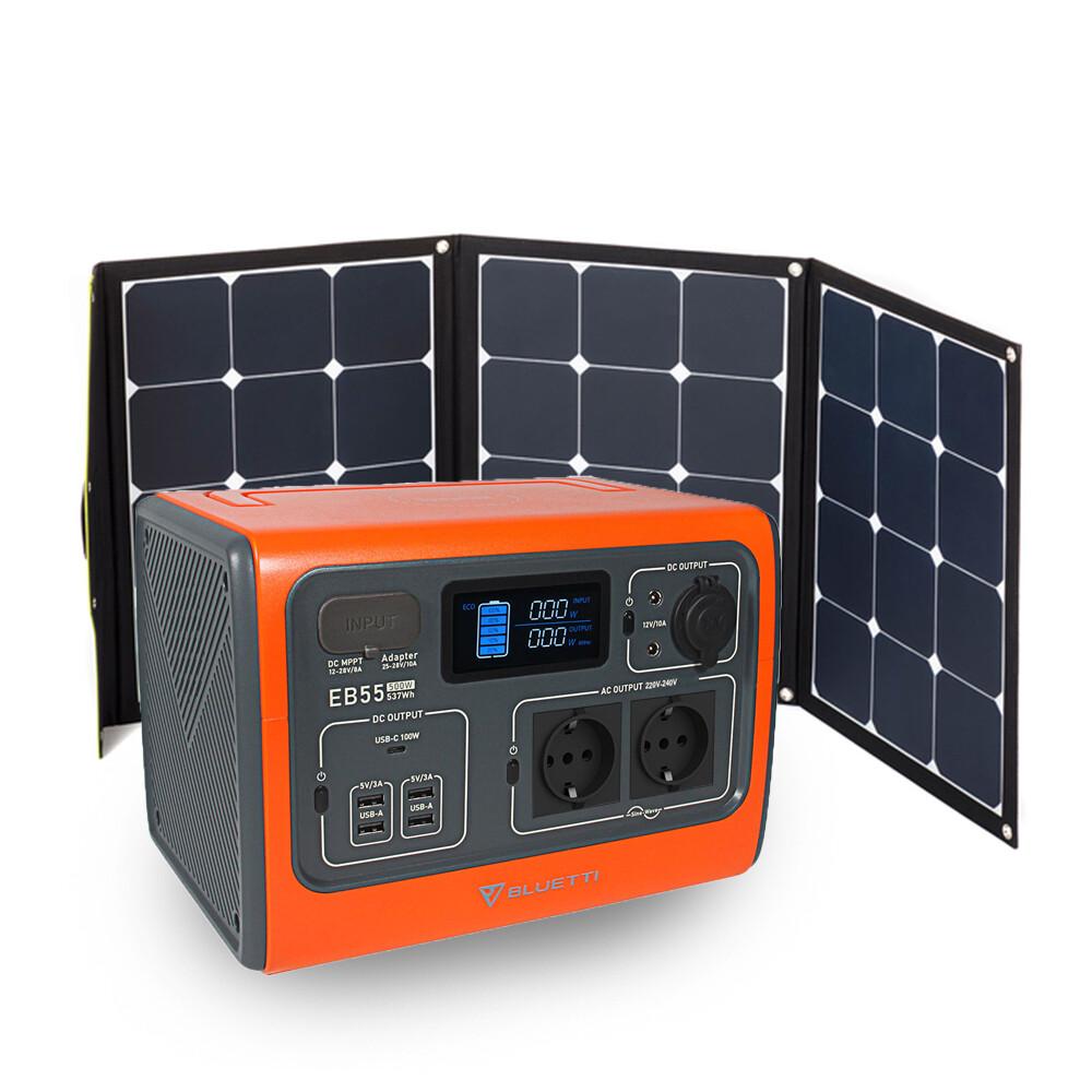 Bluetti EB55 LiFePo4 Solar Powerstation Set/Jetzt vorbestellen