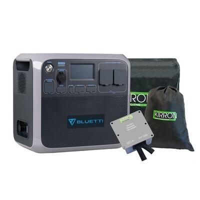 Bluetti AC200P Solar Powerstation LiFePo4 I Set inkl. DC-DC Konverter (12V/24V) I Display Deutsch/Englisch
