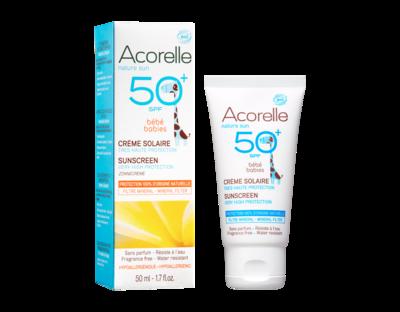 Acorelle - Crème Bébé SPF 50  50ML
