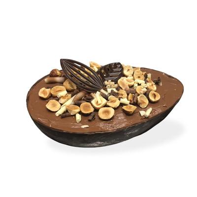 L'OVOTTO con gelato di nocciole e cioccolato di massa
