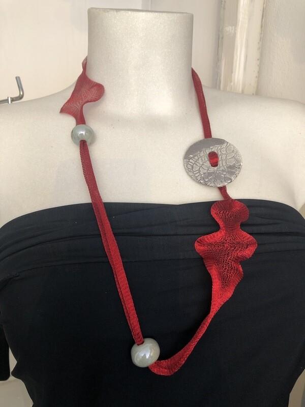 Collana Linea Tiranium Rosso E Grigio