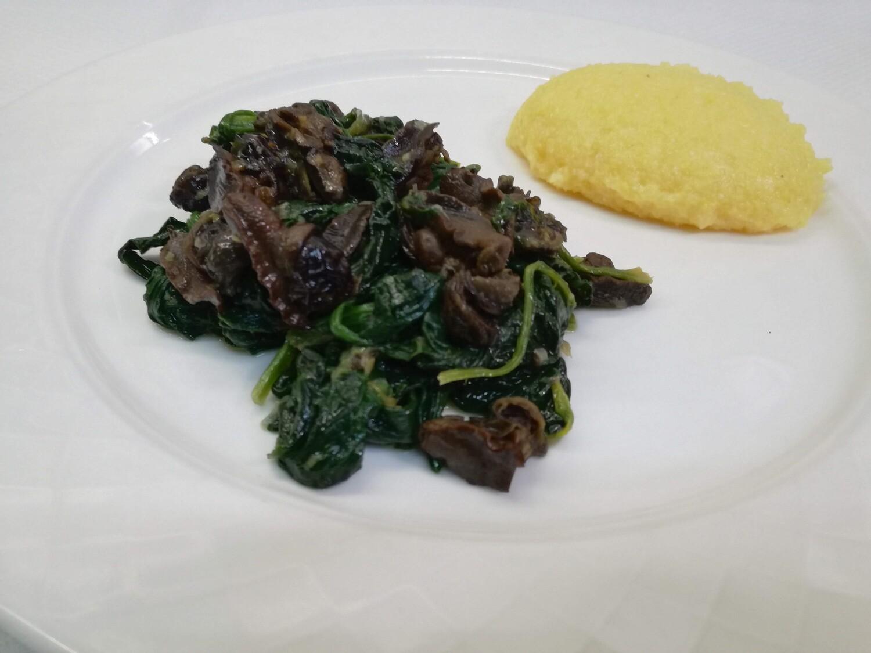 Lumache con spinaci