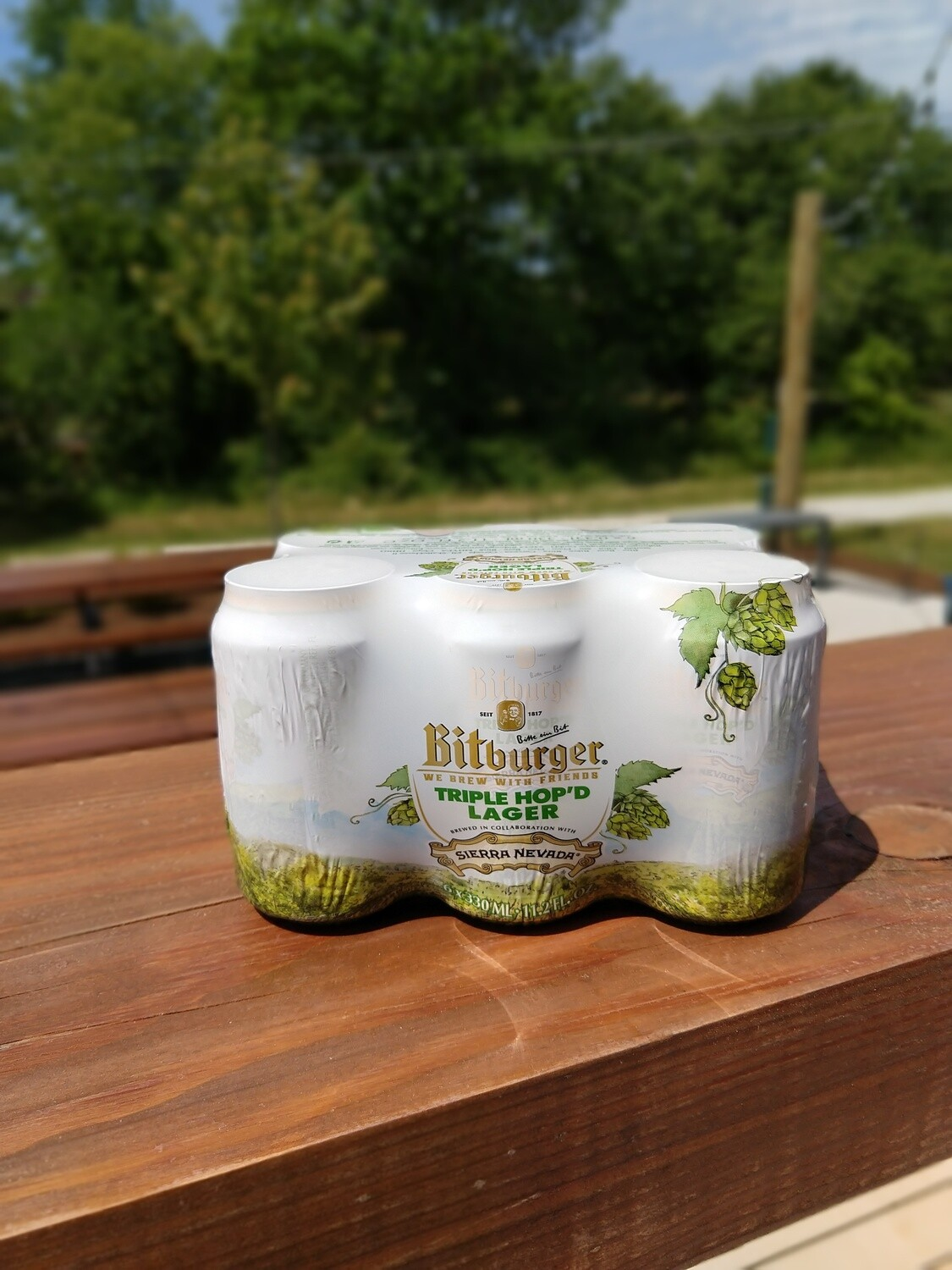 Bitburger Triple Hopped Lager Cans (6pk)