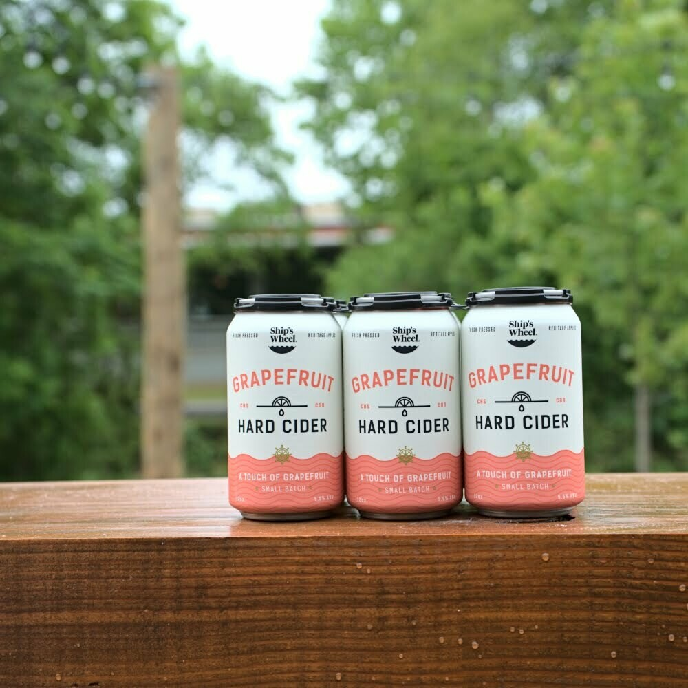 Ship's Wheel Grapefruit Hard Cider Cans (6pk)
