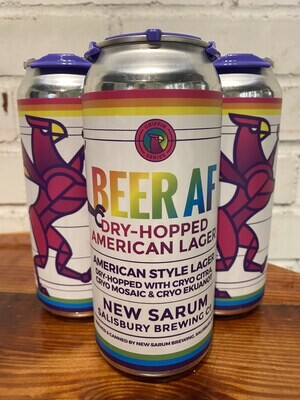 New Sarum Beer AF Dry-Hopped American Lager (4pk)