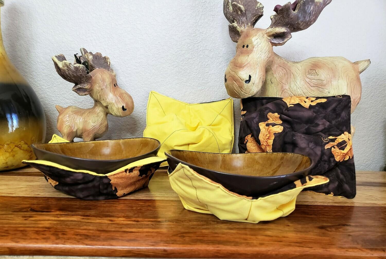 Wyoming Cowboy Bowl Cozy - Set of 4