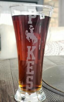 Flared Pilsner Wyoming Pokes Glass