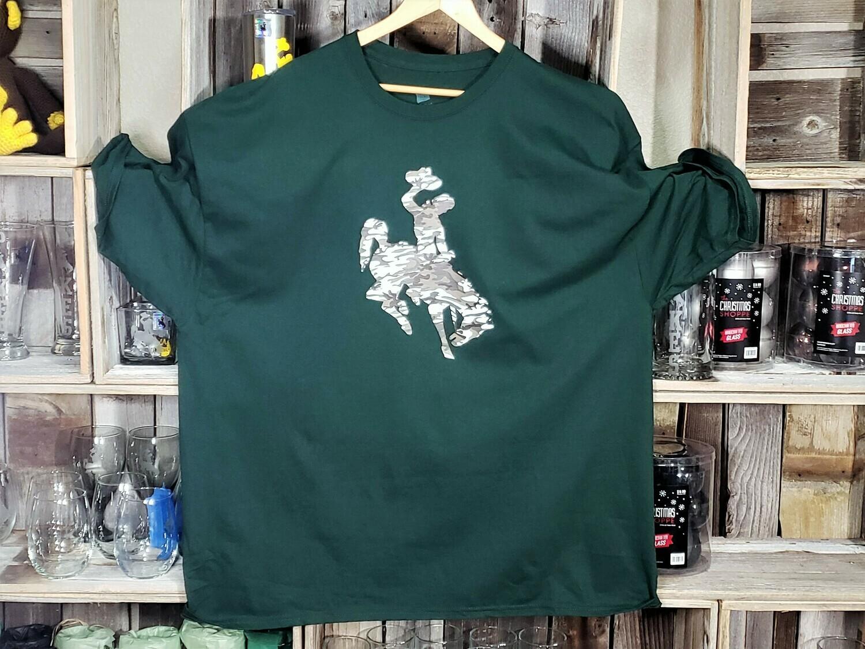 University of Wyoming Customized Logo T-Shirts - Adult Men's