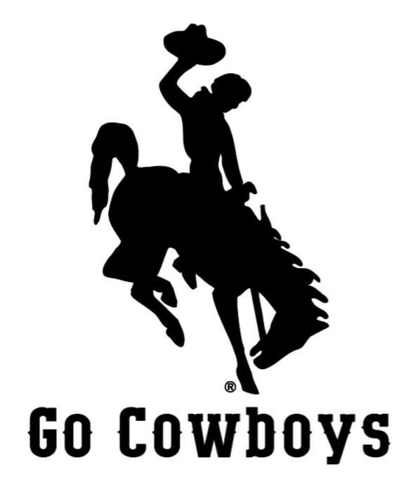 "Wyoming Cowboy 8"" Decals"