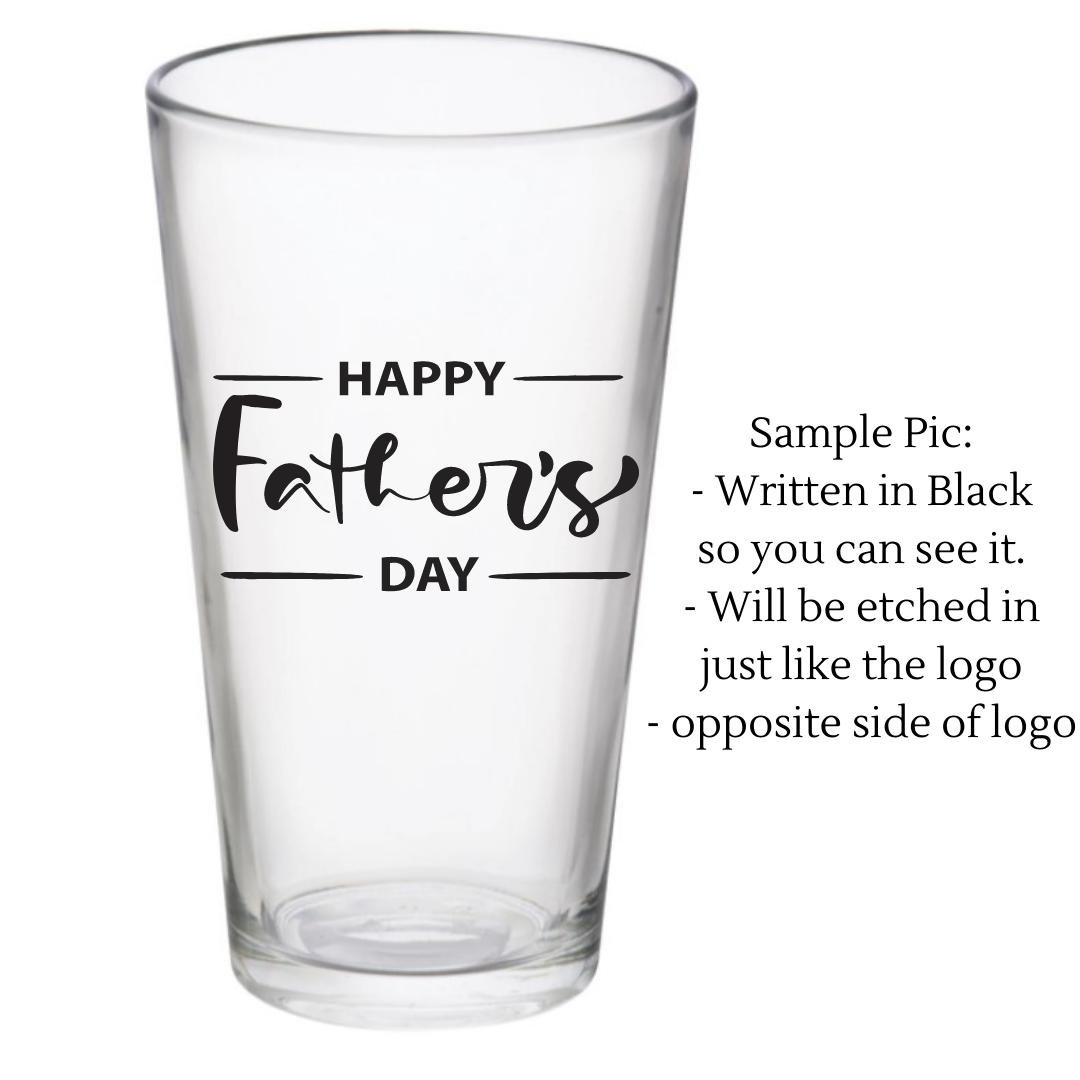 Customize this set of 2 Pub Glasses