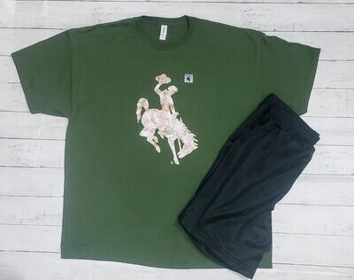 University of Wyoming Camo Logo T-Shirts - Adult Men's