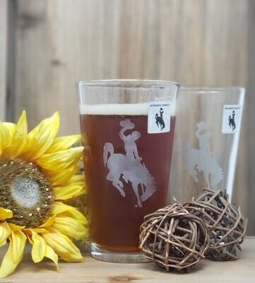 Wyoming Cowboys Pub Glass - Unique Set