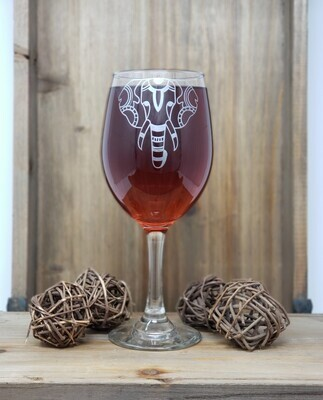 Elegant Elephant Wine Glass
