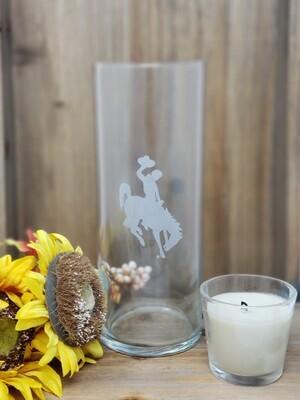 University of Wyoming Etched Vase