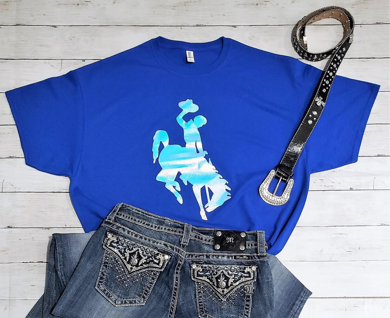 Wyoming Cowboys Holographic T-shirt