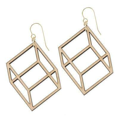 Treeline & Tide Cube Earrings