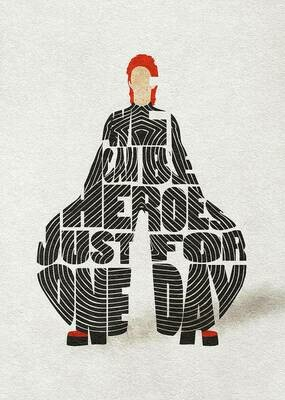 David Bowie Typography