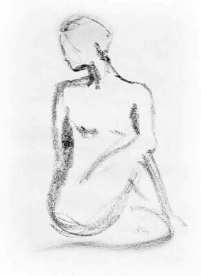 Nude Model Gesture