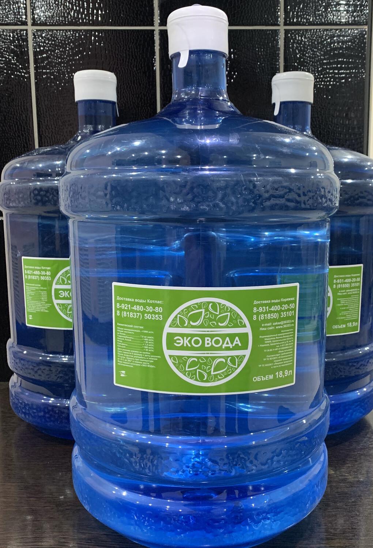 ЭКО ВОДА 19 литров (3 шт.)