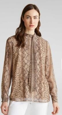 Snake print georgette blouse