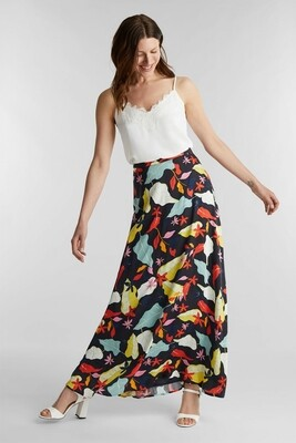 Maxi skirt with a print