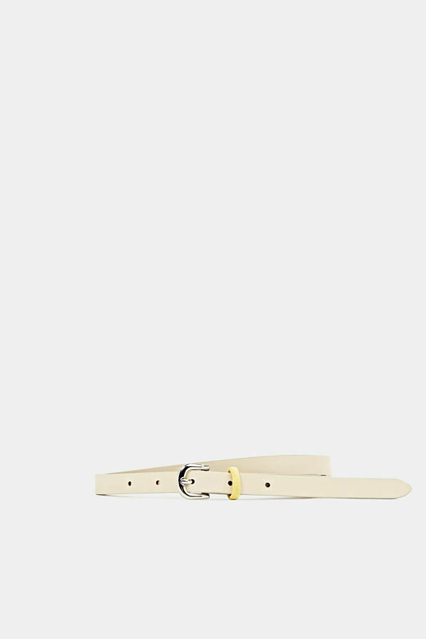 Made of leather: Belt with a contrasting loop