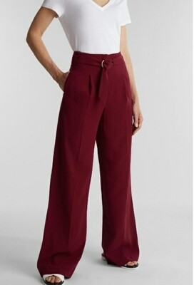 Wide Leg High Rise Trousers