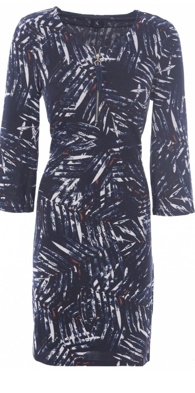 Short Dress with Zip Detail