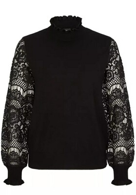 Jumper with filigree lace