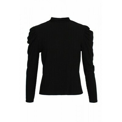 Black Top with Puff Shoulder