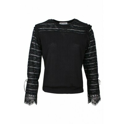 Black knit with silver lurex