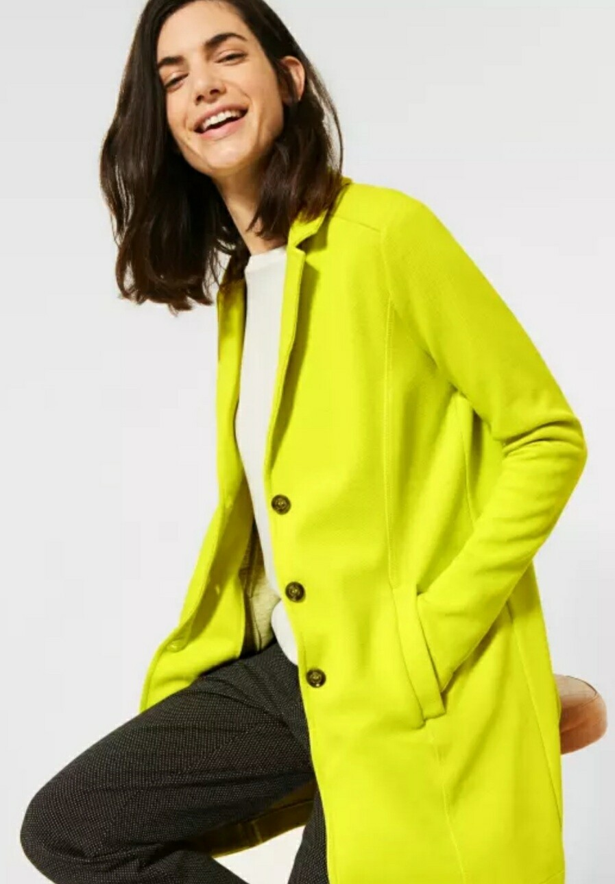 Long Doubleface Blazer in Nordic Yellow