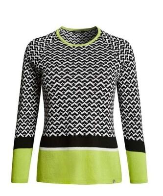 Black/white/Lime Green Knit