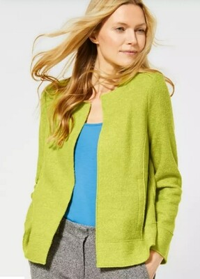 Boiled Wool Jacket in Nordic Yellow