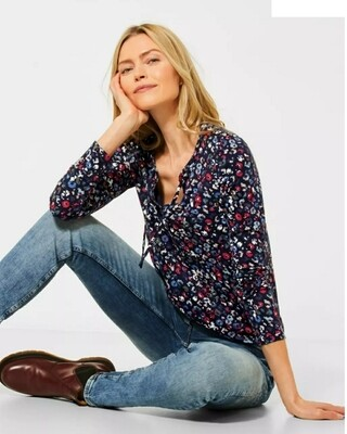 Shirt with a floral pattern