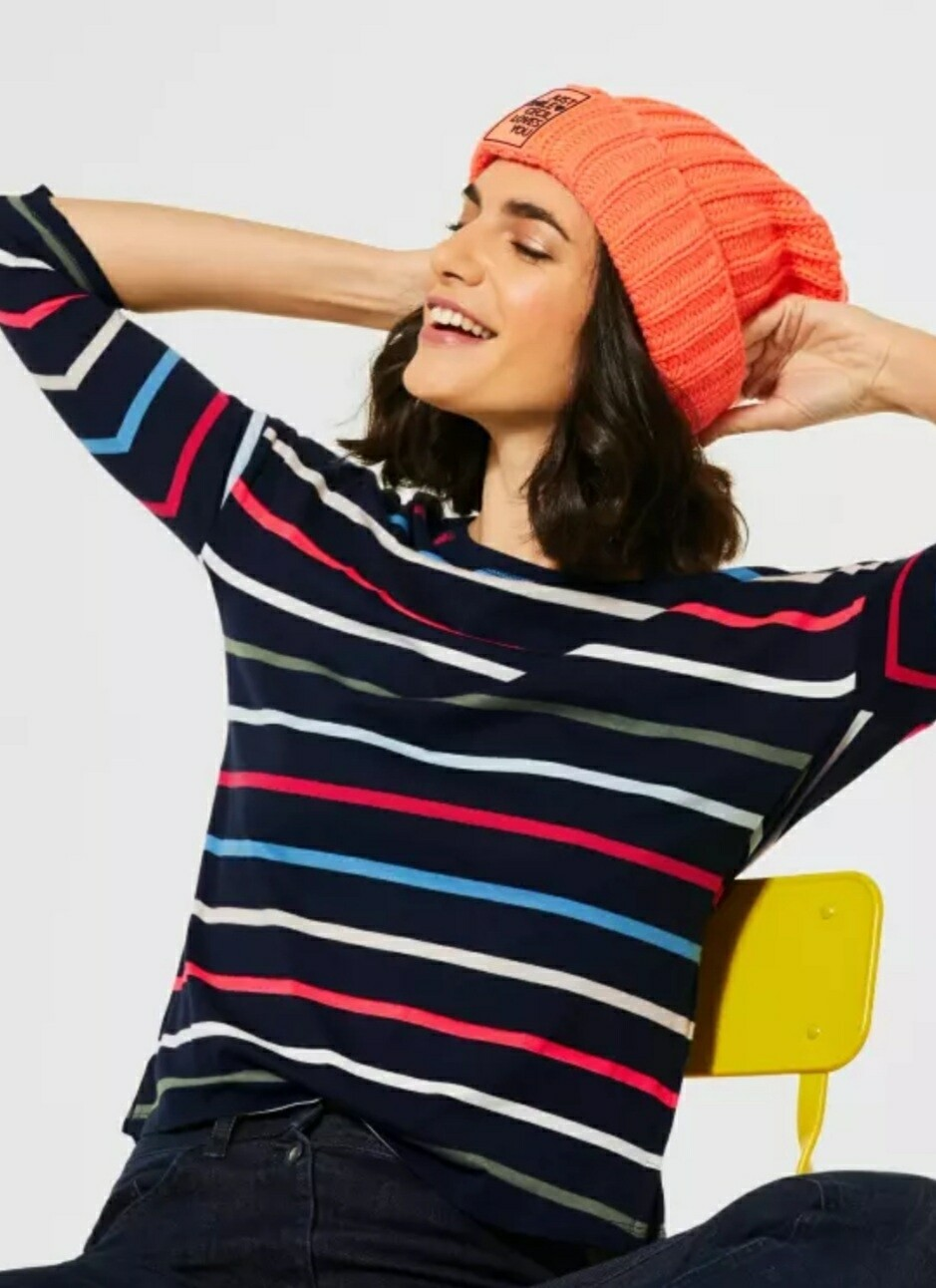Multicolour Stripe T Shirt