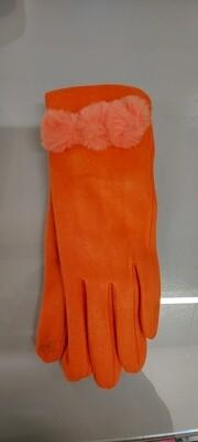 3 PomPom Faux Fur Trim Gloves